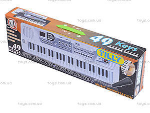 Игрушечный орган с микрофоном, от сети, MQ-4919, отзывы