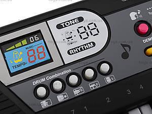 Игрушечный орган с микрофоном, от сети, MQ-4919, цена