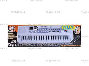 Игрушечный орган с микрофоном, от сети, MQ-4919, игрушки