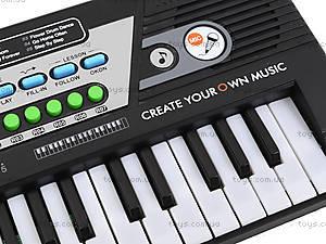 Игрушечный орган с микрофоном, от сети, MQ-4919, детские игрушки