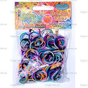 Набор для плетения цветными резинками, 300 штук, SV11675