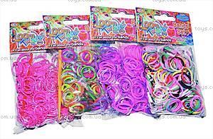 Набор для плетения цветными резинками, 300 штук, SV11675, цена