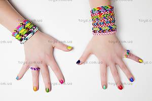 Набор для плетения цветными резинками, 300 штук, SV11675, детские игрушки