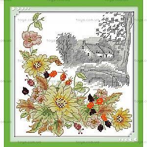 Осенний день, вышивка картины крестиком, H351