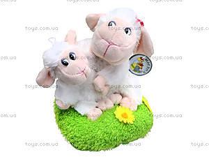 Овечка-мама с ягненком на травке, 14038, игрушки