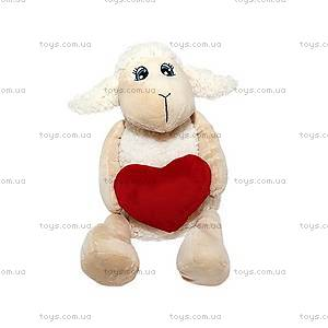 Мягкая игрушка «Овечка с сердечком», 22 см, 54-9579B-9