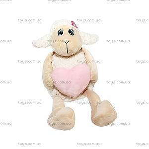 Мягкая игрушка «Овечка с сердечком», 17 см, 54-9578B-7