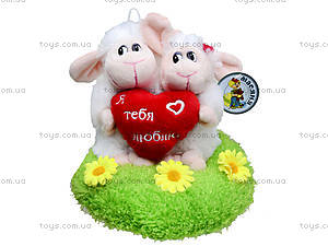 Плюшевые овечки с сердечком, 14037, фото