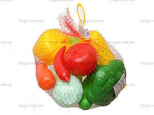 Игровой набор овощей в сетке, 04-476, фото