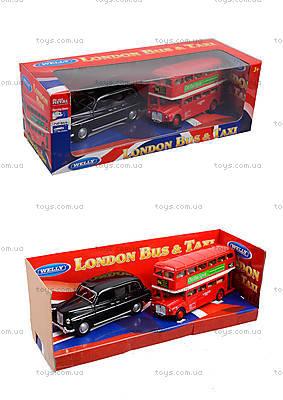 Автобус London Bus + машинка Taxi, 43616-2TB