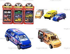 Набор игрушечных машин, 6 видов, PT2049