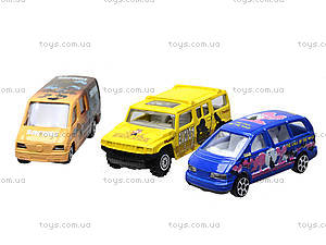 Набор игрушечных машин, 6 видов, PT2049, игрушки