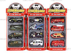 Набор служебных машинок, 6 видов, PT2050, игрушки