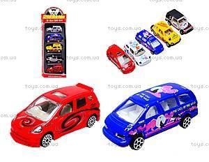 Набор игрушечных машин, 5 штук, PT2051