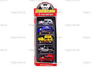 Набор игрушечных машин, 5 штук, PT2051, детские игрушки