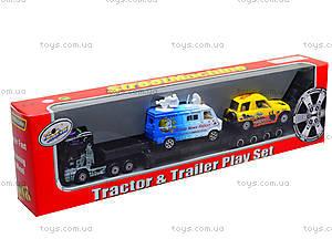 Игрушечный трейлер с 2 машинками, PT2037, цена