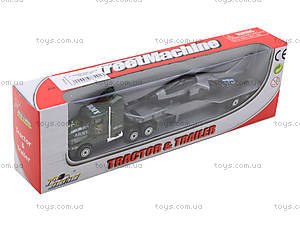 Инерционный трейлер с прицепом, PT304, игрушки