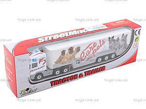 Инерционный трейлер с прицепом, PT304, toys