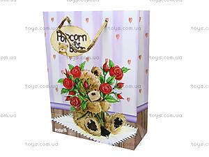 Пакет бумажный подарочный Popcorn Bear, PO14-265K, фото