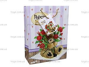 Пакет бумажный подарочный Popcorn Bear, PO14-265K, цена