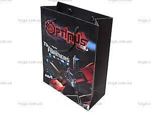Пакет бумажный подарочный Transformers, TF14-265K, детские игрушки
