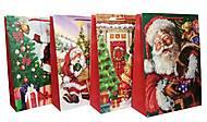 """Пакет гигант картон """"HAPPY NEW YEAR"""" 4 вида (2 шт в упак), 7260, игрушки"""