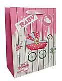 """Пакет картон """"Baby girl"""" по 6шт в упак, 3239, купить"""