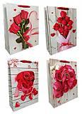 """Пакет картон """"Букет роз"""" МИКС 4 вида (6шт в упак), 3237, набор"""