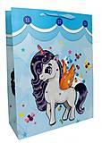 """Пакет картон """"Единорожек №2"""" 6шт в упак, 3233, опт"""