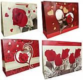 """Пакет картон """"Красные розы"""" МИКС 4 вида 3шт в упак, 1776, toys"""