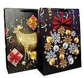 """Пакет картон """"Новогоднее сияние"""" 2 вида (2 шт в упак), 7256"""