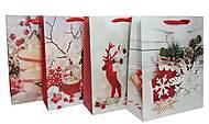 """Пакет картон """"Новогодняя атмосфера"""" микс 4 вида (6 шт в упак), 7162, toys"""