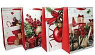 """Пакет картон """"Новогодние подарки"""" 4 вида в упак, 7232, купить игрушку"""