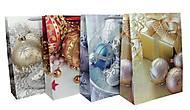 """Пакет картон """"Новогодние шары"""" микс 4 вида (4 шт в упак), 7241, детский"""