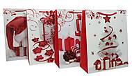 """Пакет картон """"Новогодний"""" 4 вида (6 шт в упак) бело-красный, 7161, игрушка"""