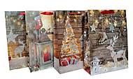 """Пакет картон """"Новогодний уют №2"""" 4 вида (6 шт в упак), 7174, купити"""