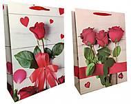 """Пакет картон """"Розы"""" МИКС 2 вида 3шт в упак, 1771, оптом"""