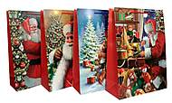"Пакет картон ""Santa Claus №2"" микс 4 вида (4 шт в упак), 7230, toys.com.ua"