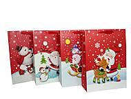 """Пакет картон """"Весёлый Новый Год"""" 4 вида (4 шт в упак), 7209, детские игрушки"""