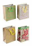 Пакет подарочный с узорами ассорти (12 штук), КРЕ1532-1559-1564-1565, интернет магазин22 игрушки Украина