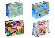 Пакеты картонные подарочные с рисунками (12 штук), АРЕ2833-2835-2837-2839, Украина