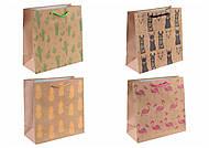 Пакет бумажный подарочный, 12 штук, КРЕ347-348-349-350, іграшки