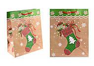 Пакет бумажный новогодний с рисунками, 4 штуки, КРС1535, тойс ком юа