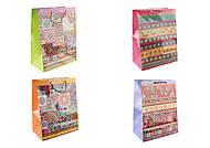 """Пакет бумажный """"Узоры"""" микс расцветок (2шт в упаковке), СПК0283, набор"""