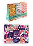 """Набор подарочных пакетов """"Узоры"""" 2 шт в упаковке (ассорти), PB-36х26,5х10, детский"""