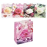 """Пакет подарочный """"Цветы"""", разные цвета, 4643"""