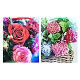 """Пакеты бумажные """"Цветы"""" (24*18см), М (24*18см), детские игрушки"""