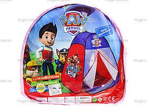 Палатка «Paw Patrol» в сумке, 817, отзывы