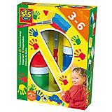 Пальчиковые краски «Цветные ладошки», 0306S, купить