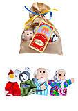 Пальчиковый театр «Курочка Ряба», 4 персонажа, B025, игрушки